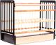 Детская кроватка Bambini Euro Style М 01.10.04 (темный орех/натуральный) -