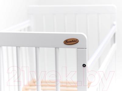 Детская кроватка Bambini Euro Style М 01.10.05 (белый)
