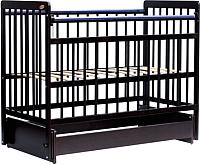 Детская кроватка Bambini Euro Style М 01.10.05 (темный орех) -