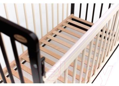 Детская кроватка Bambini Euro Style М 01.10.05 (темный орех/слоновая кость)