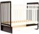 Детская кроватка Bambini Euro Style М 01.10.05 (темный орех/слоновая кость) -