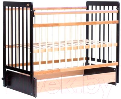 Детская кроватка Bambini Euro Style М 01.10.05 (темный орех/натуральный)