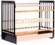 Детская кроватка Bambini Euro Style М 01.10.05 (темный орех/натуральный) -