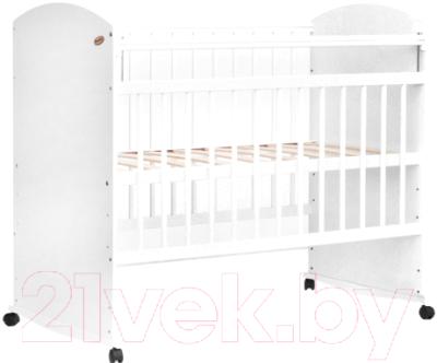Детская кроватка Bambini Elegance М 01.10.06 (белый)
