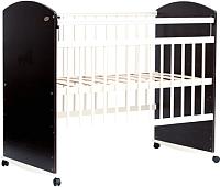 Детская кроватка Bambini Elegance М 01.10.06 (темный орех/слоновая кость) -