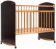 Детская кроватка Bambini Elegance М 01.10.06 (темный орех/натуральный) -