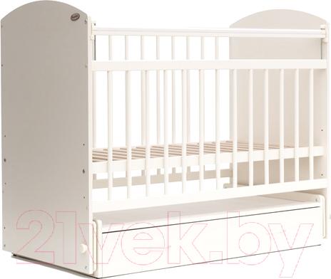 Купить Детская кроватка Bambini, Elegance М 01.10.07 (белый), Беларусь, массив дерева