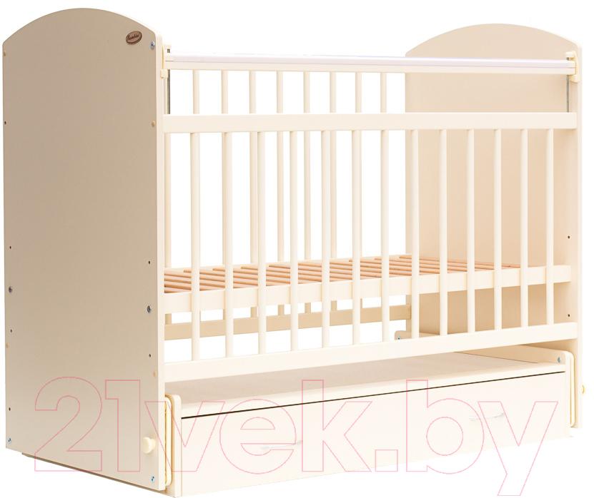 Купить Детская кроватка Bambini, Elegance М 01.10.07 (слоновая кость), Беларусь, массив дерева