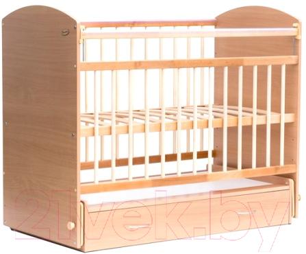 Купить Детская кроватка Bambini, Elegance М 01.10.07 (натуральный), Беларусь, ольха (натуральный), массив дерева