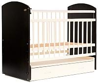 Детская кроватка Bambini Elegance М 01.10.07 (темный орех/слоновая кость) -