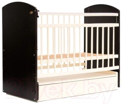 Детская кроватка Bambini Elegance М 01.10.07 (темный орех/слоновая кость)