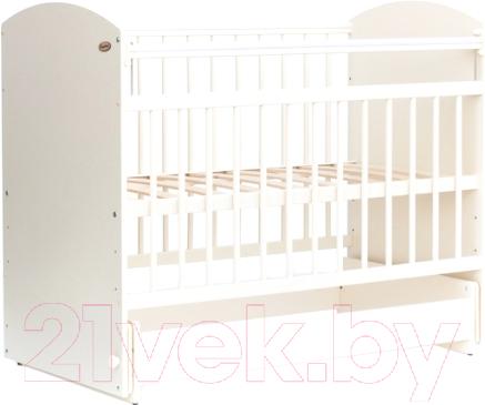 Купить Детская кроватка Bambini, Elegance М 01.10.08 (белый), Беларусь, массив дерева
