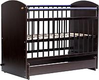 Детская кроватка Bambini Elegance М / 01.10.08 (темный орех) -