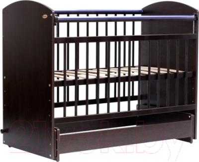 Детская кроватка Bambini Elegance М 01.10.08 (темный орех)