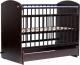 Детская кроватка Bambini Elegance М 01.10.08 (темный орех) -