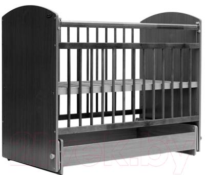 Детская кроватка Bambini Elegance М 01.10.08 (темный орех/слоновая кость)