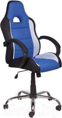 Кресло геймерское Седия Tyrrell (черный/белый/синий)
