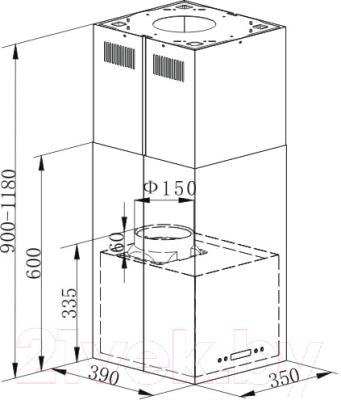 Вытяжка коробчатая Maunfeld Bath Light 35 (нержавеющая сталь)