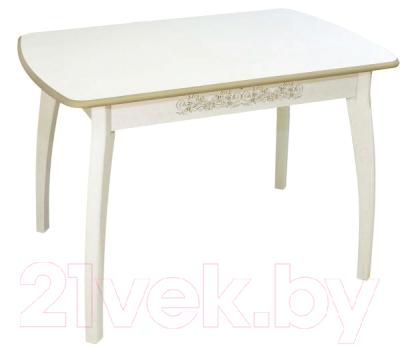 Обеденный стол Древпром Верона М45 113x71 (патина 29)