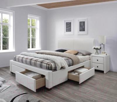 Двуспальная кровать Halmar Modena 2 (белый)
