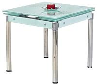 Обеденный стол Halmar Kent (молочный/хром) -