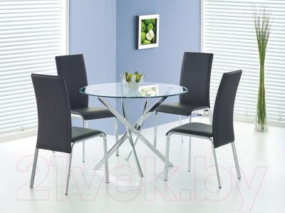 Обеденный стол Halmar Raymond (бесцветный/хром)