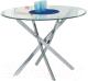 Обеденный стол Halmar Raymond (бесцветный/хром) -