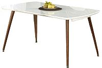 Обеденный стол Halmar Richard (белый/античная черешня) -