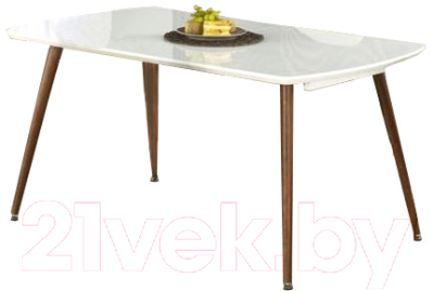Обеденный стол Halmar Richard (белый/античная черешня)