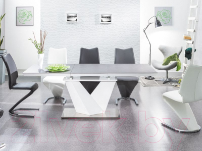 Обеденный стол Signal Alaras II 140-200x85 (серый/белый лак)