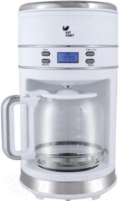 Капельная кофеварка Kitfort KT-704-1 (белый)