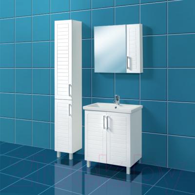 Шкаф с зеркалом для ванной Акваль Анна 71 / АННА.04.71.00.N