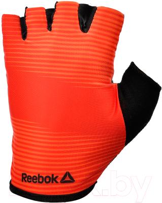 Перчатки для пауэрлифтинга Reebok RAGB-11237RD (XL, красный)