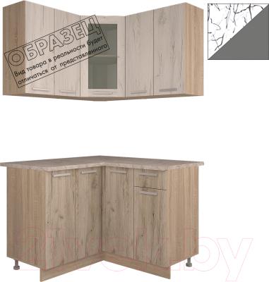 Готовая кухня Интерлиния Арт Мила 12x12 (арт графит)