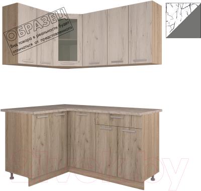 Готовая кухня Интерлиния Арт Мила 12x16 (арт графит)