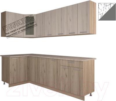 Готовая кухня Интерлиния Арт Мила 12x24 (арт графит)