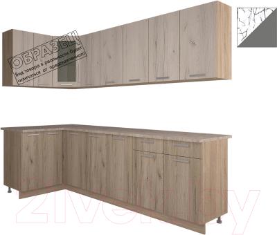 Готовая кухня Интерлиния Арт Мила 12x26 (арт графит)