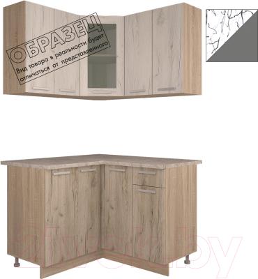 Готовая кухня Интерлиния Арт Мила 14x12 (арт графит)