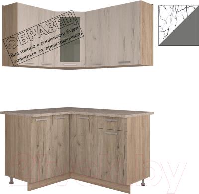 Готовая кухня Интерлиния Арт Мила 14x14 (арт графит)