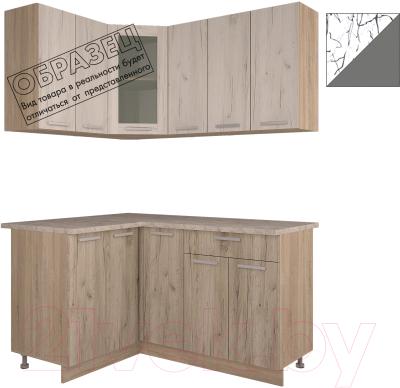 Готовая кухня Интерлиния Арт Мила 14x15 (арт графит)