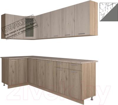 Готовая кухня Интерлиния Арт Мила 14x25 (арт графит)