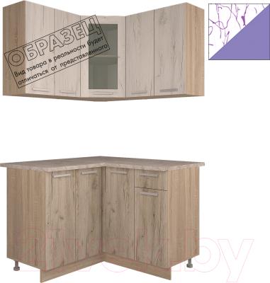 Готовая кухня Интерлиния Арт Мила 12x12 (арт фиолет)