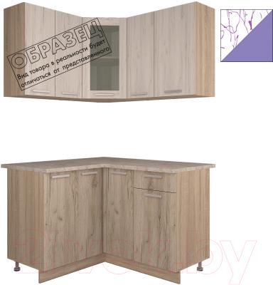 Готовая кухня Интерлиния Арт Мила 12x13 (арт фиолет)
