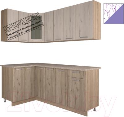 Готовая кухня Интерлиния Арт Мила 12x19 (арт фиолет)