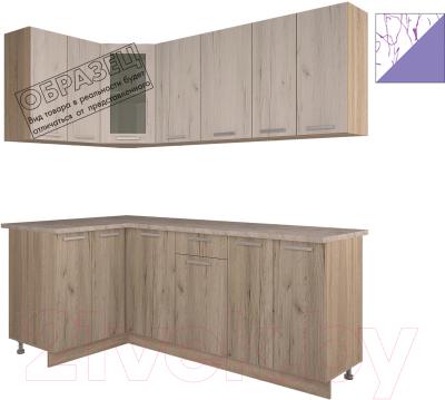 Готовая кухня Интерлиния Арт Мила 12x20 (арт фиолет)