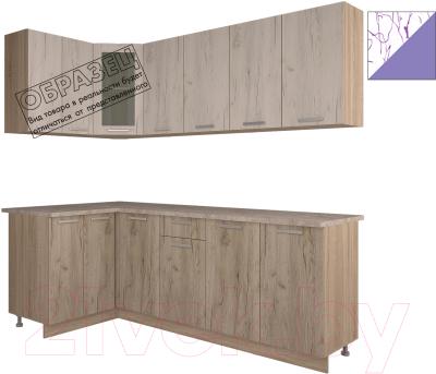 Готовая кухня Интерлиния Арт Мила 12x22 (арт фиолет)