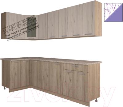 Готовая кухня Интерлиния Арт Мила 12x24 (арт фиолет)