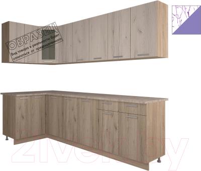 Готовая кухня Интерлиния Арт Мила 12x26 (арт фиолет)
