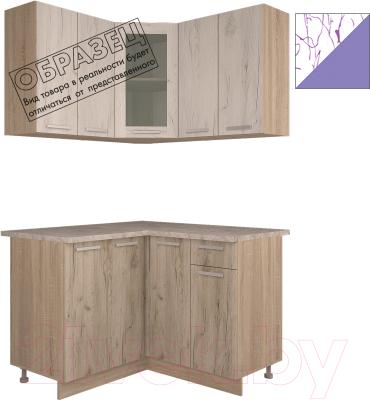 Готовая кухня Интерлиния Арт Мила 14x12 (арт фиолет)