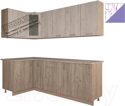 Готовая кухня Интерлиния Арт Мила 14x22 (арт фиолет)